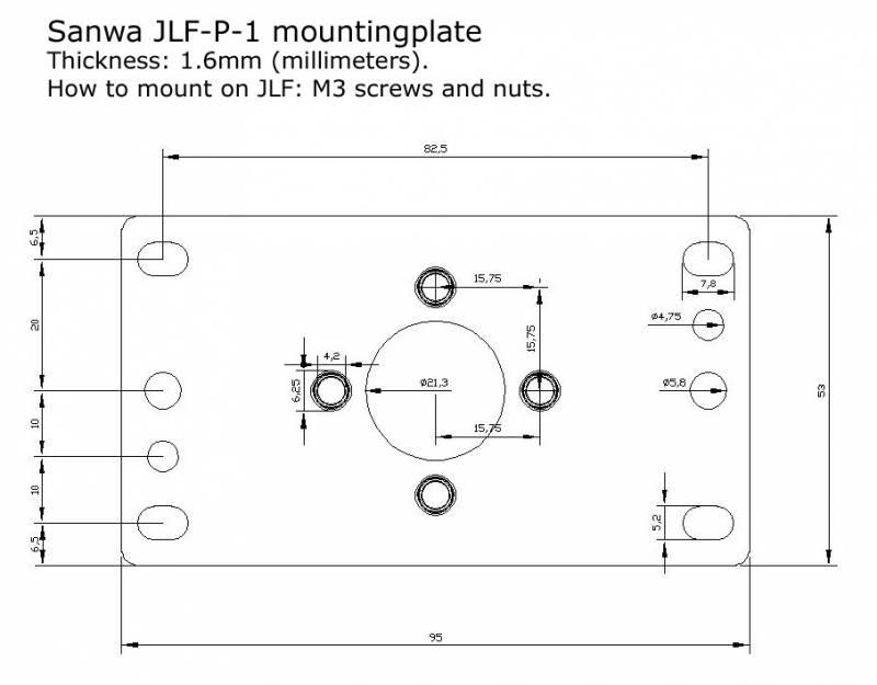 Joystick Vault / Sanwa JLF-P-1 Mounting Plate Template