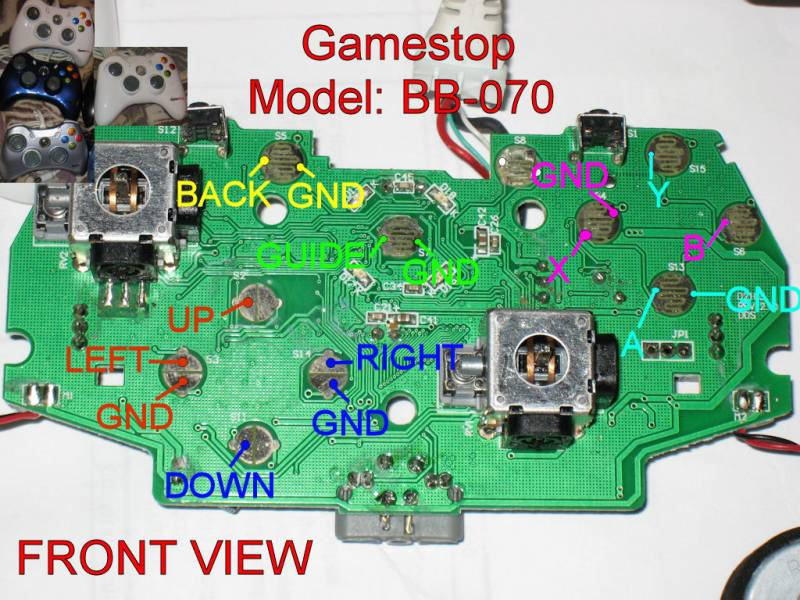bb070wiredfront xbox 360 wireless controller circuit diagram circuit and xbox 360 wired controller circuit board diagram at edmiracle.co